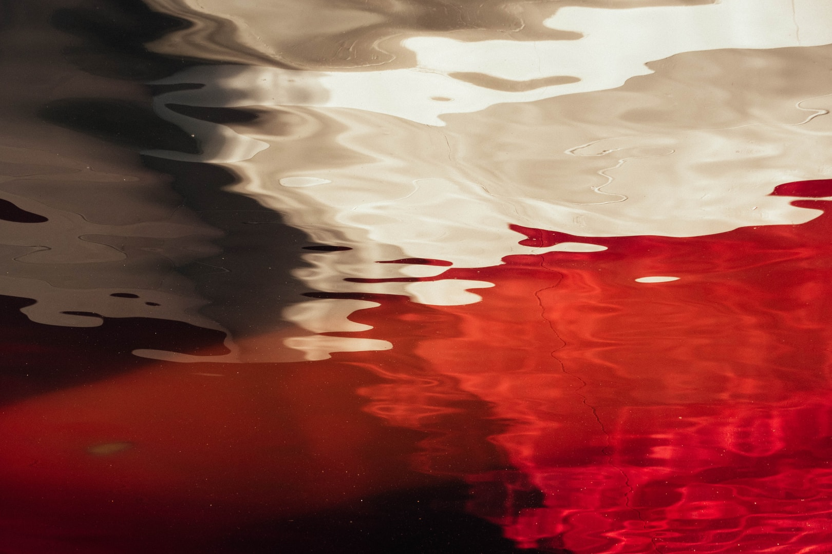 white and red fluid